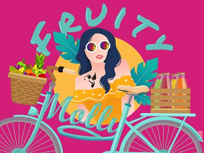 Fruity Molly   Brand Design art direction vector logo illustrator branding illustration design