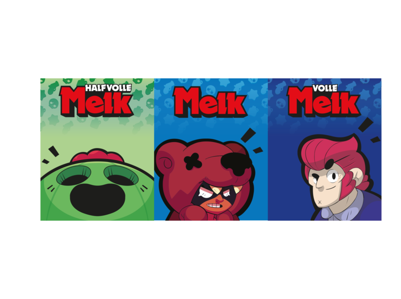 Schoolmelk graphicdesign packaging brawlstars