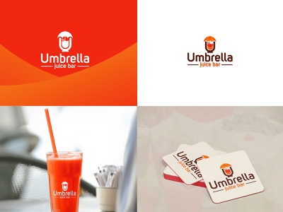 Umbrella juice bar dailylogochallenge typography graphicyes branding asset vector minimal logo flat design branding