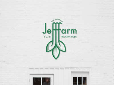 Eco Friendly Jeff Farm brand eco farm logo