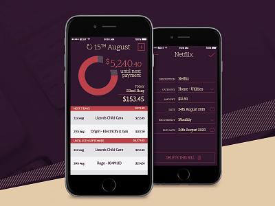 Budgeted Online App finance app visual design mobile app ios ui ux