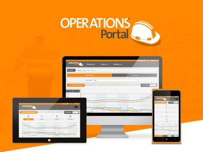 Operations Portal responsive design visual design sharepoint ux ui business intelligence