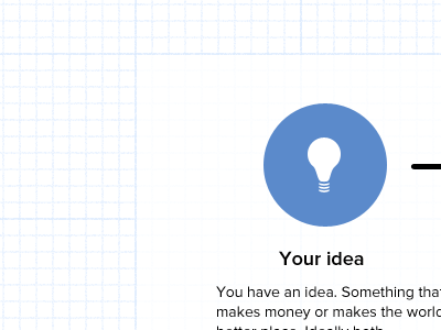 5DP pt 1 idea graph paper light bulb proxima nova everywhere