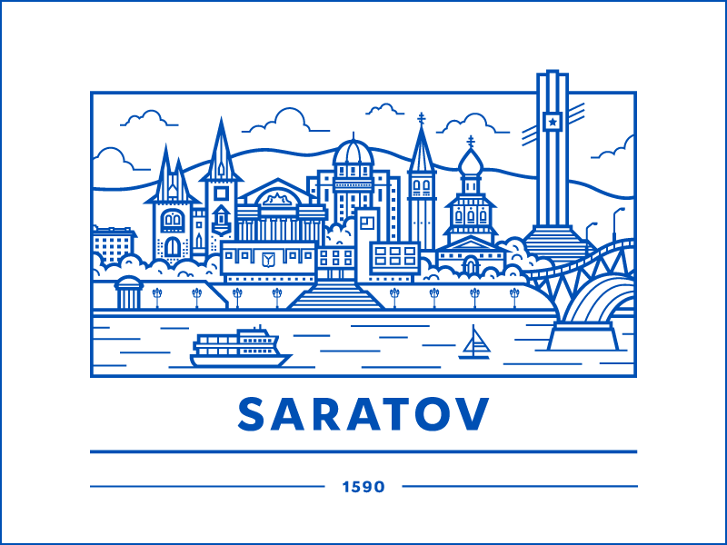 Saratov voxweb vector saratov illustration flat