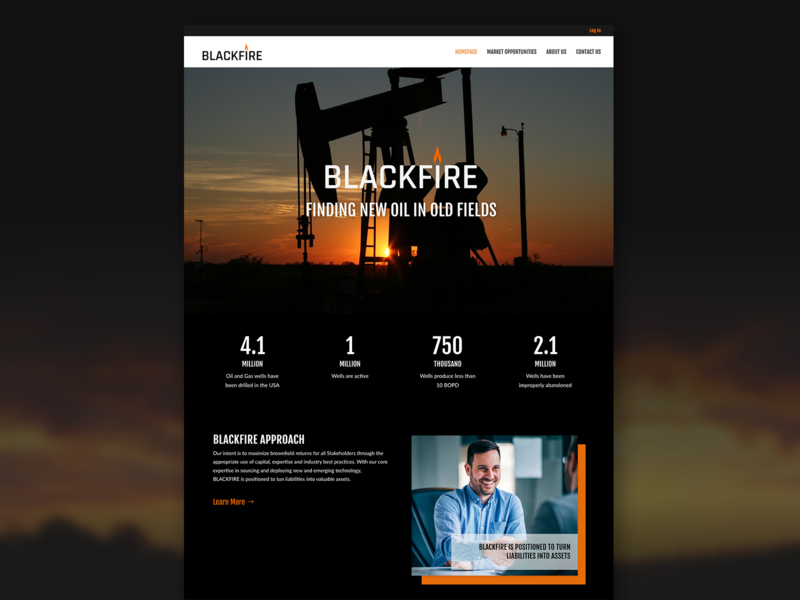 BLACKFIRE Projects uiux website branding web design