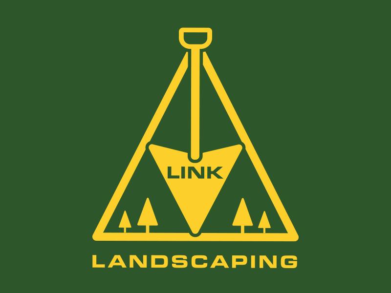 Link Landscaping landscaper green gold zelda inspired logo inspired zelda landscaping