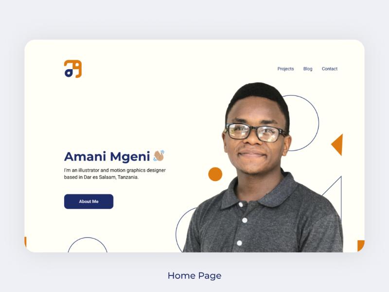 Portfolio Home page design webdesign uidesign