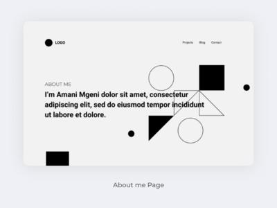 Wireframing About page uiux website webdesign uidesig