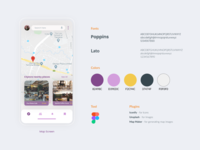 Map screen for navigation app. design ux uiuxdesign uidesig mobile app design ui 10ddc uiux mobile ui uidesign