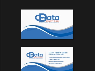 Business card design typography smart style stylish simple good design colors corporate design branding