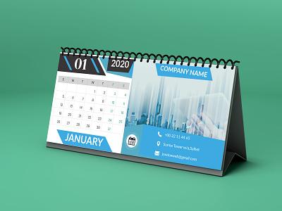 Desk Calendar typography style smart stylish simple good design colors corporate design branding