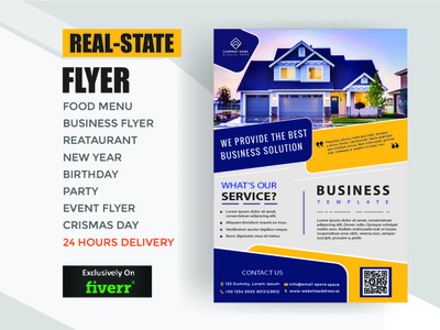 Realstate Flyer typography style smart stylish simple good design colors corporate design branding