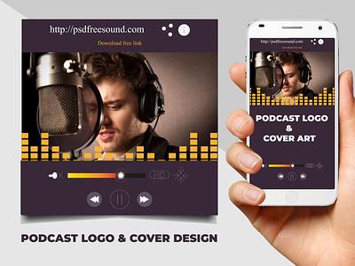 Podcast Cover art ui logo illustration stylish simple good design colors corporate design branding