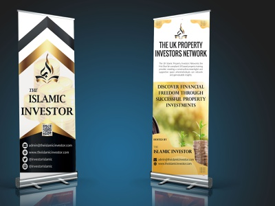 RollUp Banner typography style smart stylish simple good design colors corporate design branding