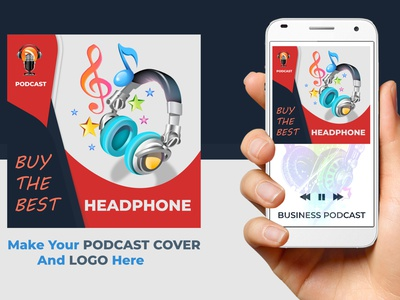 Podcast cover art or Logo  1 typography style smart stylish simple good design colors corporate design branding
