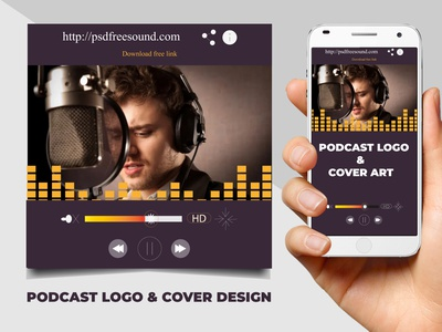 Podcast cover art or Logo  2 logo typography style smart stylish simple good design colors corporate design branding
