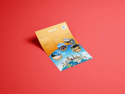 Travel Flyer typography logo simple smart stylish branding good design corporate design colors