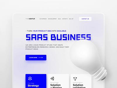 Saas digital agency vector web 3d animation