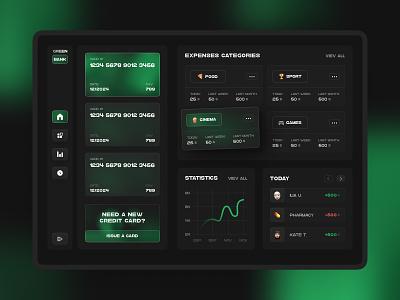 Online banking app concept product service online credit card credit card bank banking dashboard ux web design ui