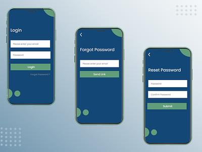 User Login & Reset Password graphic design