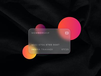 Credit Card   Glassmorphism typography illustration design graphic design