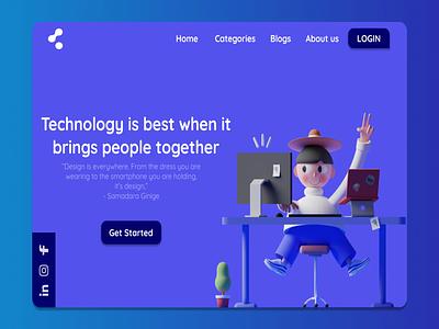 Landing page - Daily UI :: 003 icon ui illustration ux graphic design
