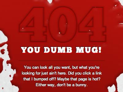 Hardboiled 404 page hardboiled