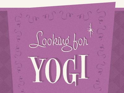 Looking for Yogi