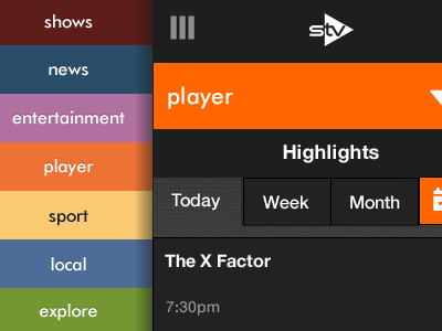 STV player for small screens (rough draft) 320andup