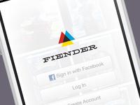 Fiender Log In/Sign Up UI