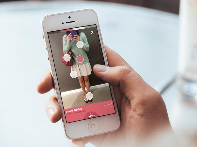 Fashion Selfie App mobile app fashion modern flat ui ux iphone ios8 design selfie photo