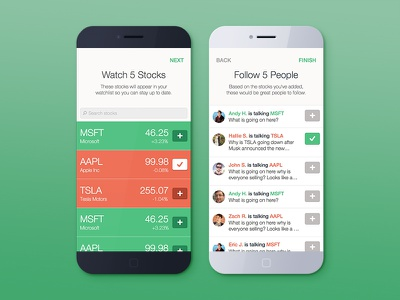 Bullseye - Social Stock App - Onboarding onboarding bullseye the cream creative stocks iphone modern flat ui ux clean stock