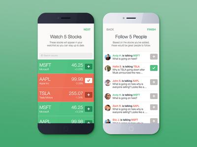Bullseye - Social Stock App - Onboarding
