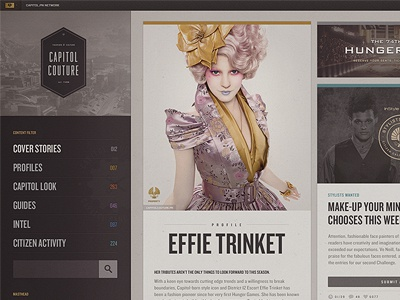 Hunger Games : Capitol Couture hunger games capitol couture tumblr blog ui