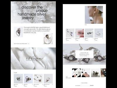 Zhevska jewelry homepage webdesign concept shop homepage minimal ecommerce website webdesign web ux uidesign ui