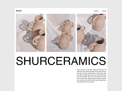 Website concept for a brand of handmade ceramics typography minimaldesign ceramics concept layout design minimal website webdesign web uidesign ui
