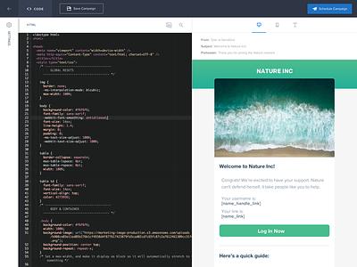 New SendGrid Email Code Editor react.js design sendgrid editor code email
