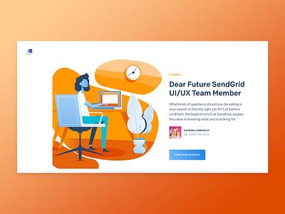 SendGrid.Design Launches! design microsite design website ui design sendgrid