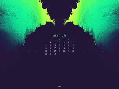 March 2020 artwork 4k abstract download calendar wallpaper