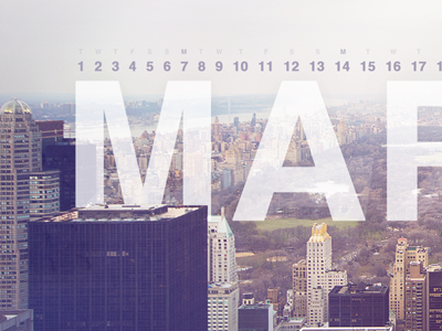 March Calendar (final) wallpaper calendar desktop calendar wallpaper helvetica new york city nyc central park photo march top of the rock canon 60d