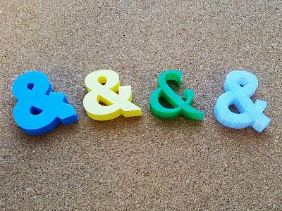 Ampersand Series: Round 2 trajan pro 3d printing arial download code pro model verdana typography 3d print