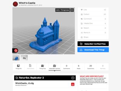 MakerBot Thingiverse: Verified Files
