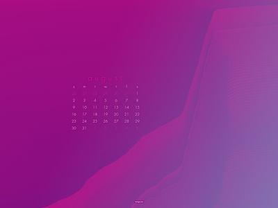 August 2020 4k glitch abstract download calendar wallpaper