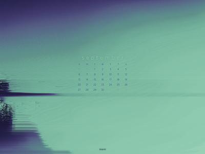 September 2020 abstract download calendar wallpaper glitch 4k