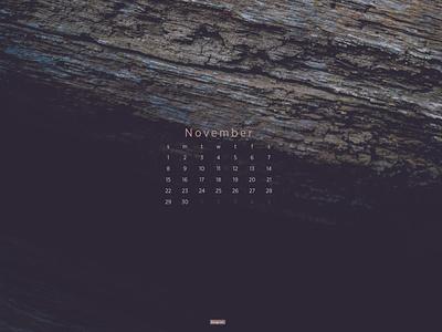 November 2020 nature macro photography download calendar wallpaper