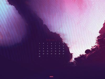 February 2021 artwork abstract download calendar wallpaper