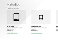 MakerBot Companion App - Printer List