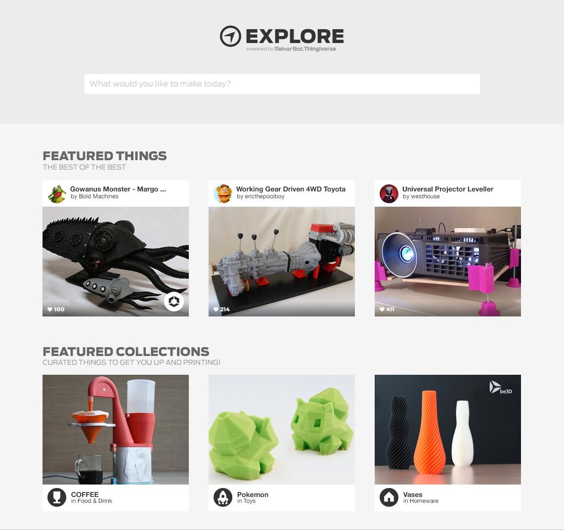 Jason Krieger / Projects / MakerBot | Dribbble