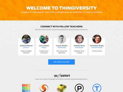 Thingiversity  ux design web design education thingiversity work thingiverse makerbot