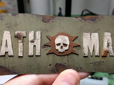 Death March acrylic plasticard analog diorama making-of warhammer 40k warhammer